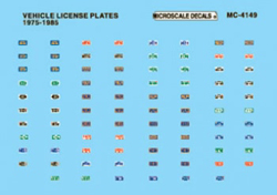 Micro Scale HO Vehicle License Plates, LIST PRICE $5.25