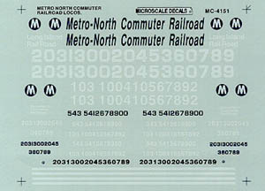 Micro Scale HO Metro North Commuter RR, LIST PRICE $5.25