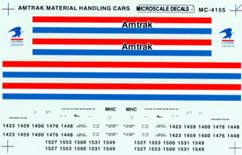 Micro Scale HO AMTK material cars 1986+, LIST PRICE $5