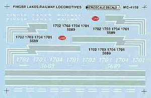 Micro Scale HO Finger Lakes railway locos, LIST PRICE $4.5