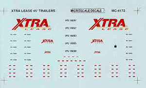 Micro Scale HO XTRA Lease 45' trlr  '90+, LIST PRICE $5.25