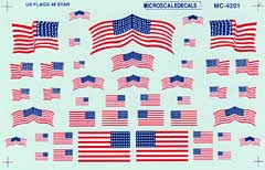 Micro Scale HO US Flags 48 star '12-'59, LIST PRICE $5.25