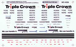 Micro Scale HO Triple Crown 53' RR 95+, LIST PRICE $5.25