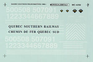 Micro Scale HO Hd Locos Quebec Southern, LIST PRICE $5.25