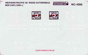 Micro Scale HO WP 50' ssWood Auto Boxcar, LIST PRICE $5