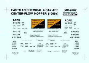 Micro Scale HO ACF 4 Bay CFlow Hop Kodak, LIST PRICE $5.25