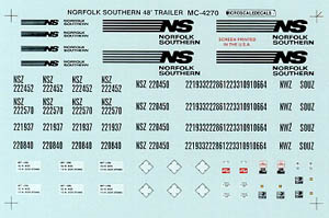 Micro Scale HO Norfolk Southern 48' Trlr, LIST PRICE $5