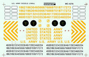 Micro Scale HO Minical US Army Dsl(1990), LIST PRICE $4.5