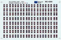 Micro Scale HO ACI Plates (1967-1977), LIST PRICE $5.25