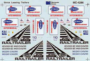 Micro Scale HO Strick Lease 48' Trailers, LIST PRICE $5