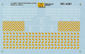 Micro Scale HO US Army Trans Corps Dsls, LIST PRICE $5.25