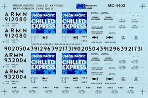 Micro Scale HO Chilled Express Rfr Cr UP, LIST PRICE $4
