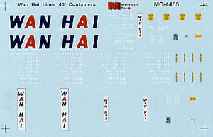 Micro Scale HO Minical Wan Hai Lines 40', LIST PRICE $5.25