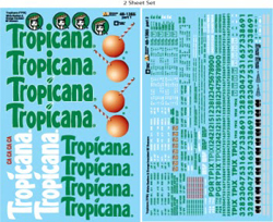 Micro Scale O Tropicana Reefers/Boxcar, LIST PRICE $12.95