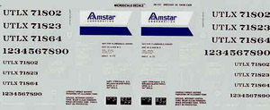 Micro Scale O Amstar 50' Tank cars, LIST PRICE $8.5