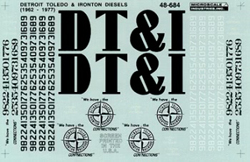 Micro Scale O DT&I Diesels 1956-1977, LIST PRICE $7.5