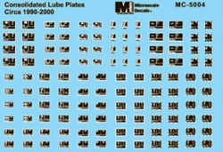 Micro Scale Cons Lube Plates 90-2000, LIST PRICE $5.25