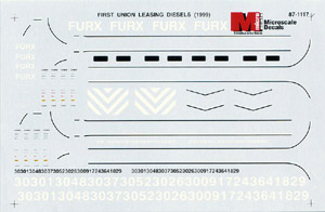 Micro Scale N FURX Leasing Diesels, LIST PRICE $6.75