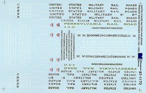 Micro Scale N US Military RR Frght&Pass, LIST PRICE $6.75