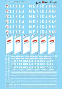 Micro Scale N Container Decal Set Linea Mexicana TMMU 40' & 20, LIST PRICE $6.75