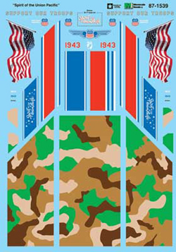 Micro Scale N RR Decal Set UP 1943 Spirit of the UP commemorative, DUE TBA, LIST PRICE $6.75