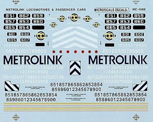Micro Scale N Metrolink Loco & pass, LIST PRICE $6.75