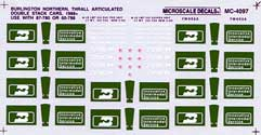 Micro Scale N BN Thrall Double Stack, LIST PRICE $6.75