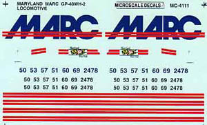 Micro Scale N Maryland MARC GP-40WH-2, LIST PRICE $6.75
