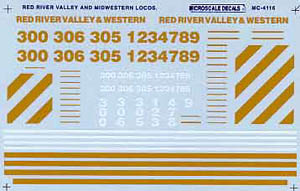 Micro Scale N Red River Valley & Wester, LIST PRICE $6.75