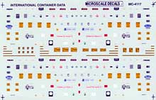 Micro Scale N Int'l Container Data, LIST PRICE $6.75