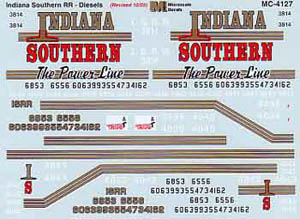 Micro Scale N Indiana Southern RR loco, LIST PRICE $6.5