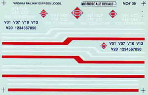 Micro Scale N Virginian exp locos 1990+, LIST PRICE $6.75