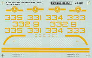 Micro Scale N MEC EMD switchers 1975-82, LIST PRICE $6.75