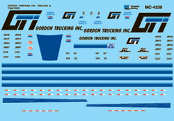 Micro Scale Gordon trucking T/T 1990+, LIST PRICE $6.5