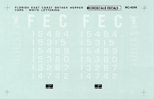 Micro Scale N FEC Ortner Hopper 1996+, LIST PRICE $6.75