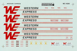 Micro Scale N Western Express 40' Trlr, LIST PRICE $6.75