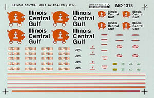 Micro Scale N ICG 40' Trailers 1979+, LIST PRICE $6.5