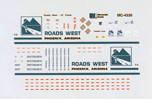 Micro Scale N Roads West Trucking, LIST PRICE $6.75