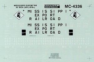 Micro Scale N MSE 50' Boxcar 1978+, LIST PRICE $6.75