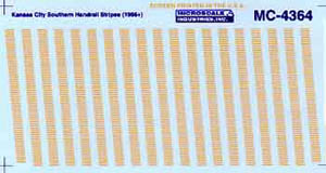 Micro Scale N KCS Dsl Handrail Stripes, LIST PRICE $6.75