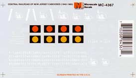 Micro Scale N CNJ Cabooses 1942-1965, LIST PRICE $6.5