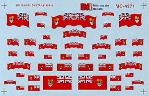 Micro Scale N Canadian Flags 1870-1965, LIST PRICE $6.5