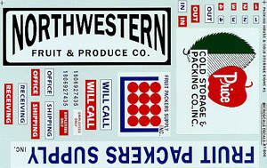 Micro Scale N Packing House signs #1, LIST PRICE $6.5