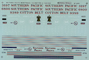 Micro Scale N SP/Cotton Belt Loco&Cabo, LIST PRICE $6.75