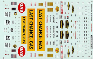 Micro Scale N Gas Station Detail Signs, LIST PRICE $6.75