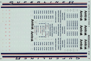Micro Scale N Amtrak Superliners Ph IV, LIST PRICE $6.5