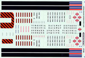 Micro Scale N Virginia railway 1995+, LIST PRICE $6.5