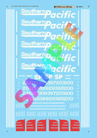 Micro Scale N Railroad Decal Set -- Southern Pacific GE AC4400CW Diesels, LIST PRICE $6.5