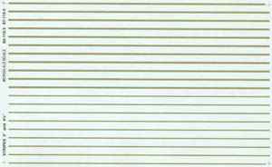 """Micro Scale N Stripes 3""""&4-3/4"""" gold, LIST PRICE $5.75"""