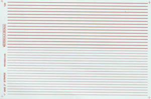 """Micro Scale N Stripes 1 & 2"""" Wide red, LIST PRICE $5.75"""